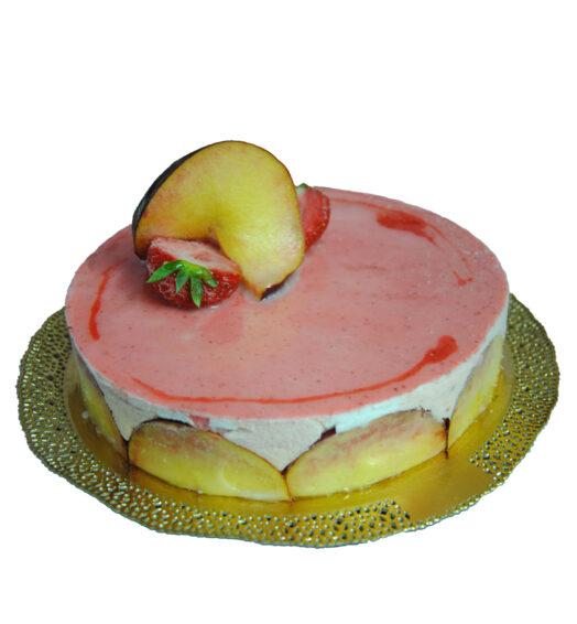Torta Gelato Pesca, Fiordilatte e Fragola
